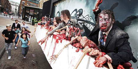 AMC's Live-Action Billboard Puts Undead Creatures on Display