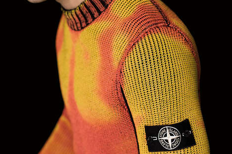 Color-Changing Thermal Sweaters - Stone Island's 'Ice Knit' Changes Color in the Cold