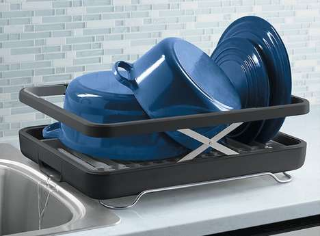 Compartmentalized Dish Trays - 'The Lift' Dish Rack Offers a Place for Every Kitchen Item