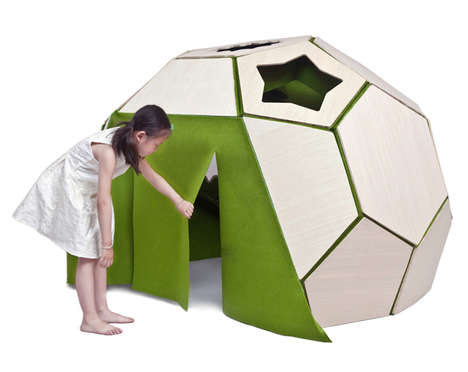 Imaginative Play Tents - The 'Moon House' Offers Children a Dynamic Place to Play