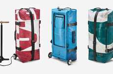 Inflatable Travel Bags - FREITAG's 'ZIPPELIN' is a Lightweight Travel Bag That Can Be Pumped