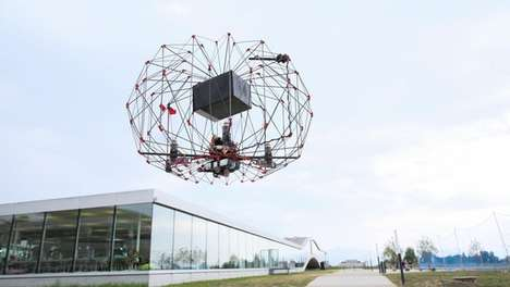 EPFL Lab's Delivery Drone Can Be Folded When Not in Use