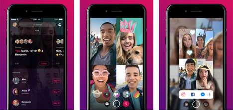 Group Video Chat Apps - Facebook's Standalone Bonfire App Also Has Special Effects Features