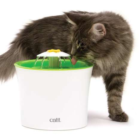 Floral Pet Fountains - The 'Catit Flower Fountain' Provides Fresh Water for Your Pet