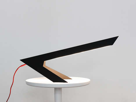 Angular Bird-Inspired Lamps - The 'Blackbird Lamp' Resembles a Bird Perched on Its Feet