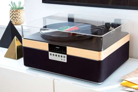 Music-Streaming Record Players - You Can Wirelessly Stream Music on the 'Plus Record Player'