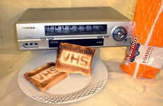 VCRs as Kitchen Appliances - The VHS Toaster Brands Wonderbread With Techie Goodness