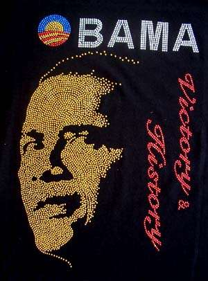 Presidential Quote Fashion - Obama Rhinestone T-Shirts Offer Words of Inspiration