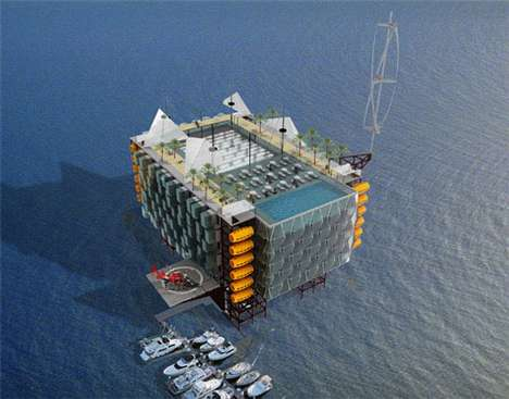 Oil Rig Resorts - Sustainable Developments to Beautify Floating Gulf Coast Eyesores