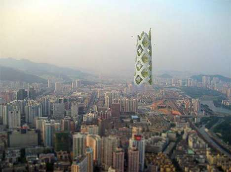 Feng-Shui Mountain Architecture - Vertical City in Shenzhen, China Could Be the Future of Urban Life