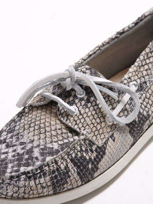 Snake Skin Boat Shoes