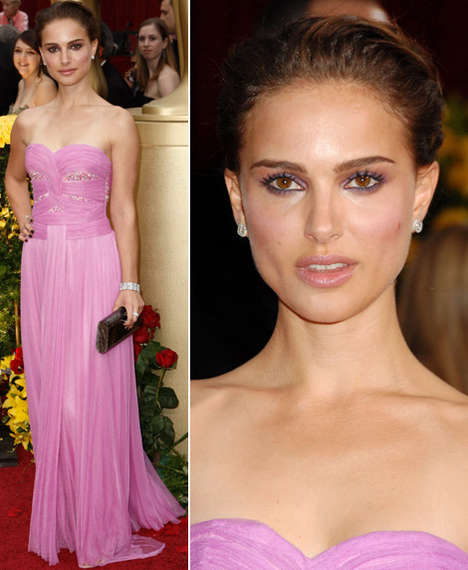 Fairy-Like Wrap Dresses - Natalie Portman Was Pretty in Pink in Rodarte at 2009 Oscars
