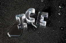 Frozen Alphabets - Sculptured Ice Is Twice as Nice, But Letters Are Even Better