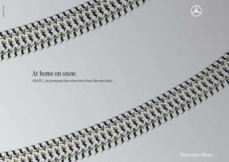 Mercedes-Benz 4MATIC Ad Uses Human Shapes to Design