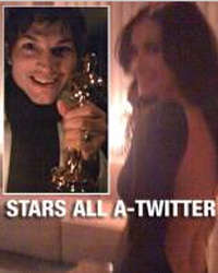 Microblogging A-Listers - Ashton Kutcher & Demi Moore Twittered from Oscars, Posted Videos