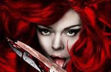 Comics-Inspired Remakes - Fiery Teaser Posters Unveiled for 'Red Sonja'
