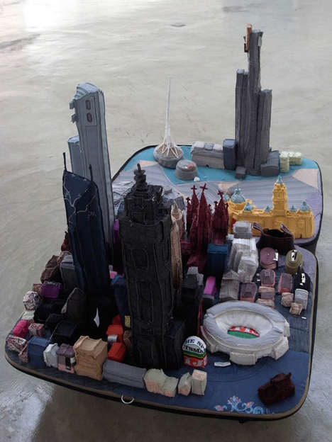 'Portable Cities' Exhibit by Yin Xiuzhen Is Made From Used Clothes