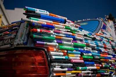 Recycled Pen Cars