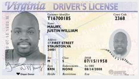 Laser-Engraved Government IDs - Virginia Introduces Black & White Driver's Licenses