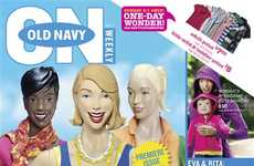 Mock Model Campaigns - Old Navy Spoofs Its Customers & Tabloid Culture With 'SuperModelquins'