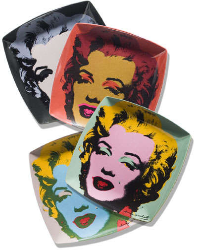 Pop Art Plateware - Eat Off of Andy Warhol's Iconic Artwork