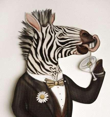 Zebra Papercut Puppets