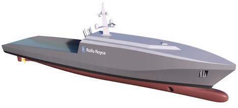 Robotic Naval Vessels - This Rolls-Royce Ship Concept Can Hit the Seas Without Human Crew