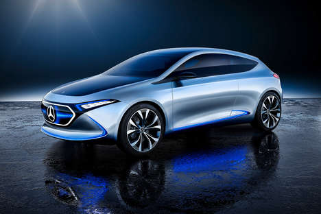 Induction Charging Electric Vehicles - The Mercedes-Benz Concept EQA Offers Ample Charging Options