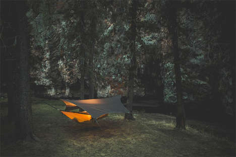 Rain-Catching Hammock Covers - The Kommok Glider Protects Your Hammock and Provides Drinking Water