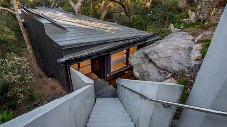 Impervious Zinc-Clad Homes - Donaldson House by Glenn Murcutt is Resistant to Wildfires