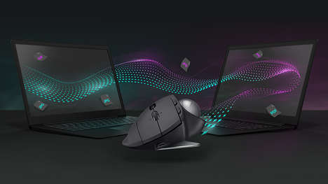 Ergonomically Optimized Mouses - The Logitech MX ERGO Mouse is Customizable and Health-Focused