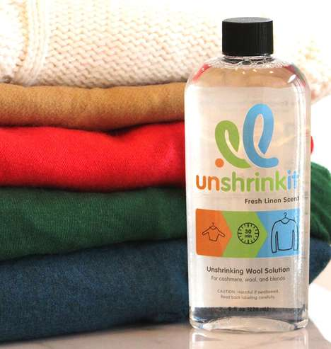 Clothing-Unshrinking Detergents - The Unshrinkit Solution Can Unshrink Clothes in Just 30 minutes