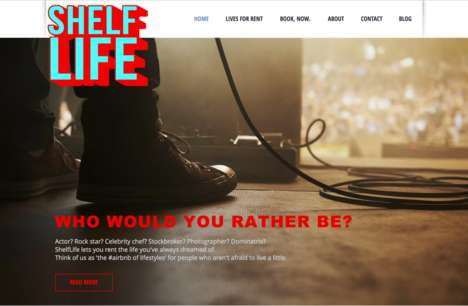 Lifestyle Rental Services - 'ShelfLife' is a Life Rental Service to Let You Take a Break