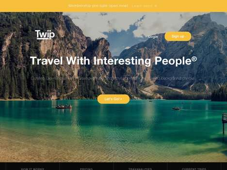 Travel Buddy-Finding Networks - 'TWIP' Connects Compatible Travel Companions Together