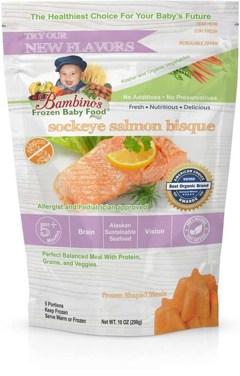 Baby-Friendly Seafood Subscriptions - Bambino's Baby Food Has Ingredients Like Wild Alaskan Salmon