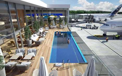 Landing Strip Infinity Pools - Punta Cana International Airport has an Infinity Pool on a Patio