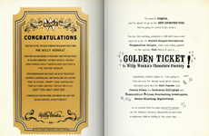 Personalized Classic Storybooks - Wonderbly's 'My Golden Ticket' Offers a Tour of Willy Wonka's