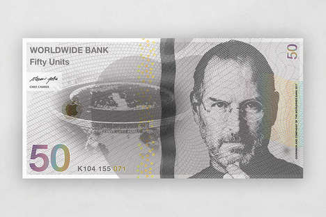 CEO Currency Art - These Reimagined Banknotes by Jade Dalloul Feature Top Business Innovators