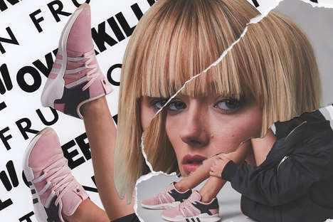 Collage Sneaker Campaigns - OVERKILL & FRUITION Launched an Artful Editorial to Promote Its New Line