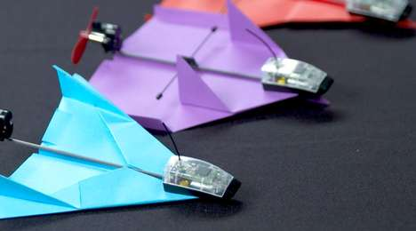 Aerobatic Paper Planes - This Bluetooth Paper Plane Can Perform Acrobatic Aerial Stunts
