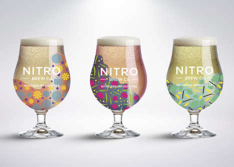 Nitrogen-Infused Canned Teas - The Nitro Brew Co. Concept Offers Smoothly Textured Beverages