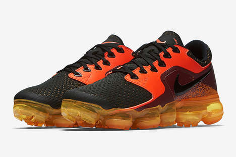 Volcano-Inspired Sneakers - Nike Updated Its 'Air VaporMax CS' Model with a Fiery Colorway
