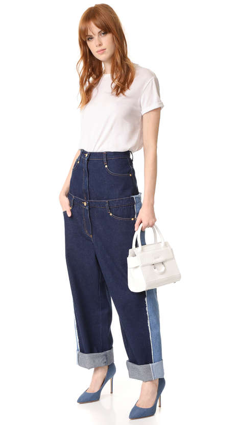 Unconventional Double Denim Pants - Natasha Zinko's 'Double Jeans' Appears as Two Pairs of Pants