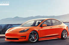 Stylishly Modified Electric Vehicles - The Unplugged Performance Tesla Model 3 is Sporty and Speedy