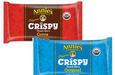 Organic Rice Crisp Snacks - Annie's Organic Crispy Snack Bars Reimagine Unhealthy Crispy Rice Treats