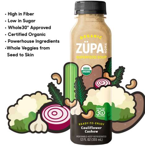 Bottled Cauliflower Soups - Züpa Noma is Introducing a Seasonal Cauliflower Ready-to-Drink Soup