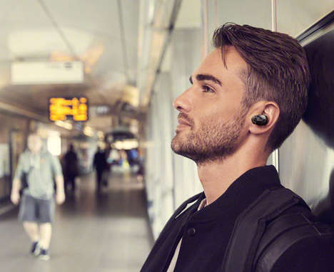 Activity-Detecting Earbuds - The Sony WF1000X/B Noise-Cancelling True Wireless Headphones are Crisp