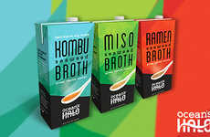 Kelp-Based Soup Broths - These Ready-to-Serve Broths from Ocean's Halo are Made with Kelp Stock