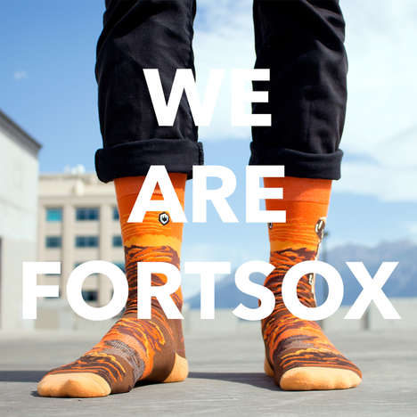 Expressive Unisex Socks - Fortsox Introduces Dynamically Designs to Elevate Your Sock Game