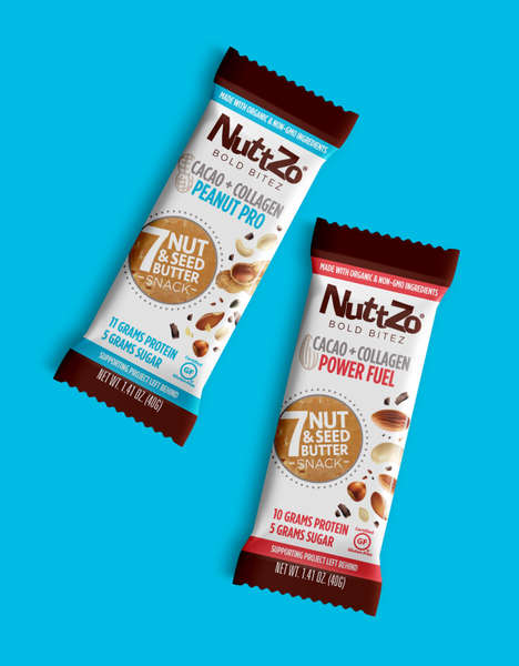 Protein-Rich Collagen Bars - NuttZo's Nut Butter Bars are Packed with Seven Nuts and Seeds